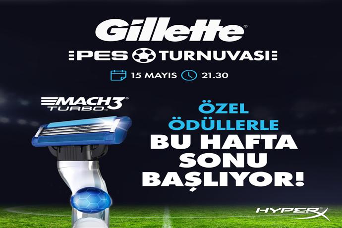 Ödüllü Gillette PES Turnuvası başlıyor