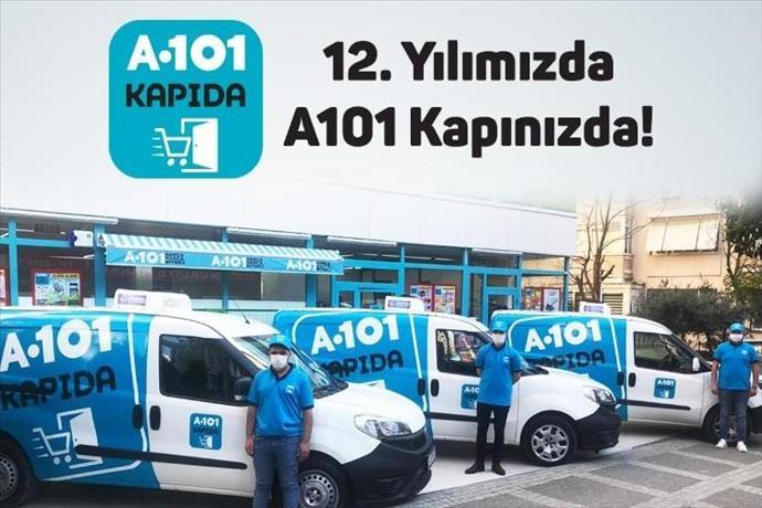 A101  12. yılında teslimatı evlere taşıdı