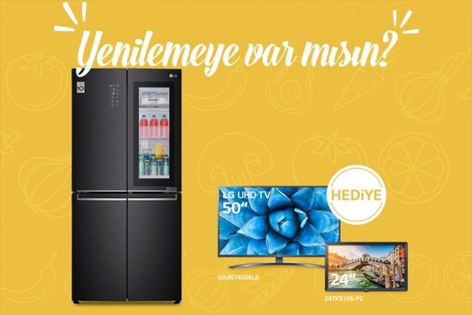 LG'den buzdolabı alana televizyon bedava