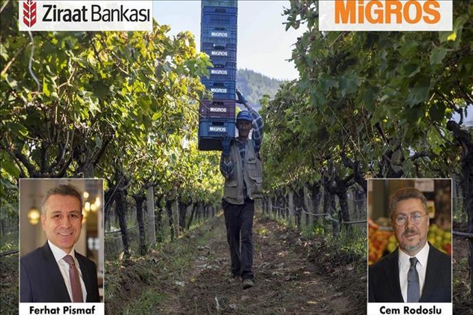 Çiftçilerin imdadına Ziraat Bankası ve Migros yetişti