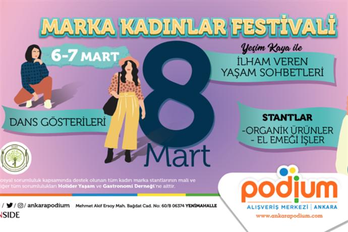 Podium AVM'de Marka kadınlar festivali