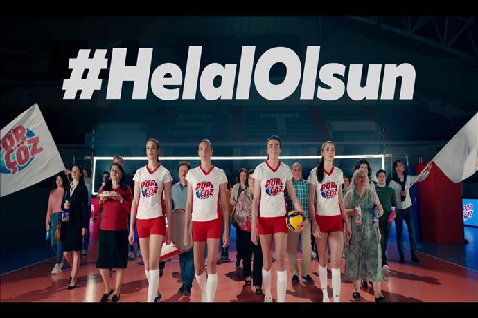 Porçöz'den Türkiye A Milli Voleybol Takımları'na Destek Filmi