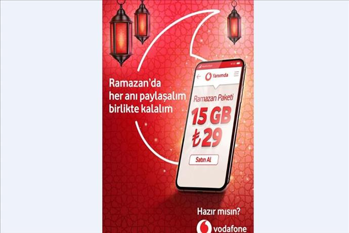 Vodafone'dan ramazan ayına özel ek paket