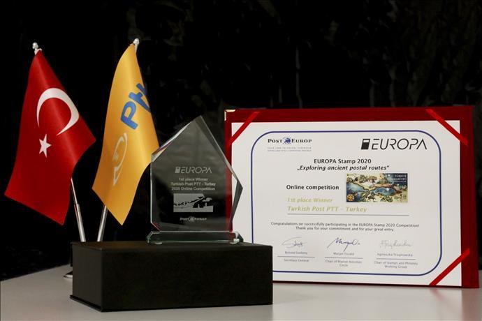 En İyi Avrupa Pulu Yarışmasında Birincilik Ödülü PTT'nin Oldu.