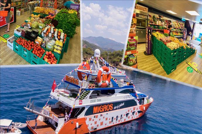 Migros'un Tam Donanımlı Yüzen Mağazası