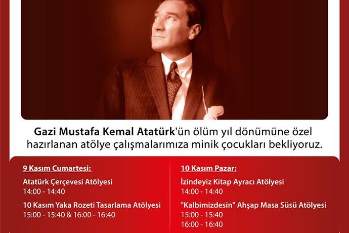 Atatürk'ü Anma Atölyeleri Rings AVM'de!