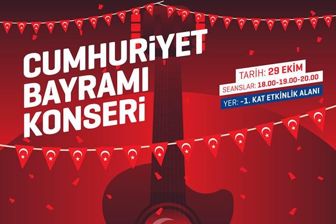 Gebze Center AVM'de 29 Ekim için özel konser