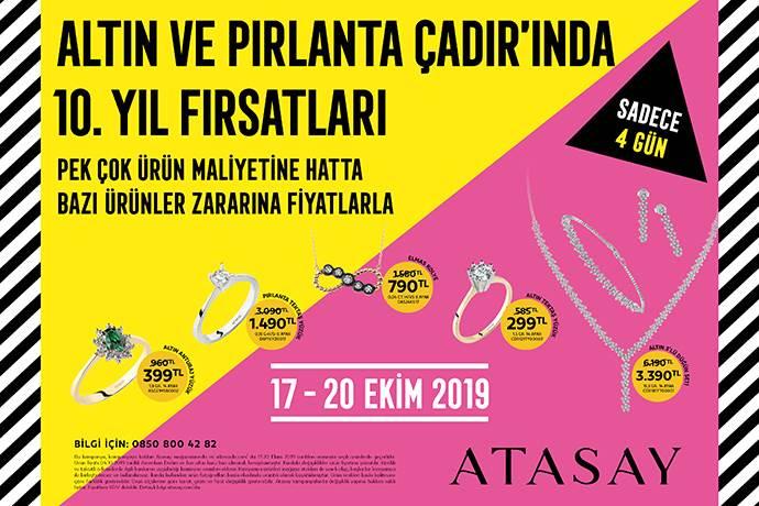 Atasay 'Altın ve Pırlanta Çadır Günleri' başlıyor