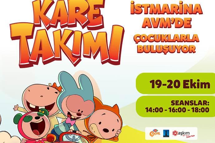 Kare Takımı İstMarina AVM'de çocuklarla buluşacak