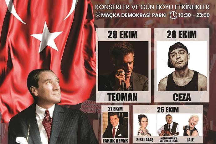 Şişli Cumhuriyet Bayramı Şöleni'nde ünlü isimler sahne alacak