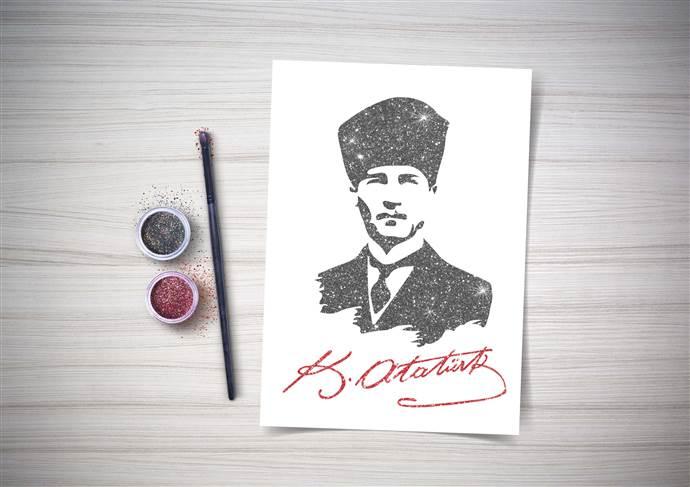 Trump AVM Atatürk'ü anıyor, çocuklar ulu önderin posterini yapıyor