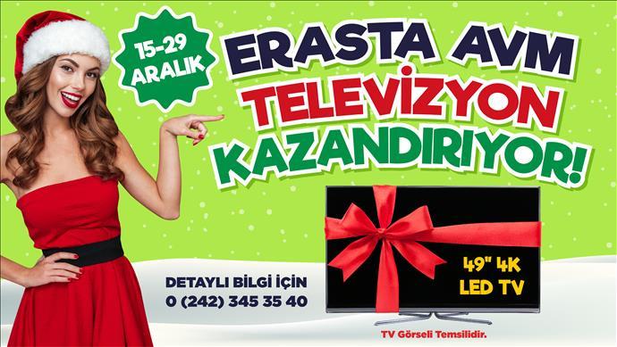 Erasta Antalya oyunda yüksek skor yapana Smart TV hediye edecek
