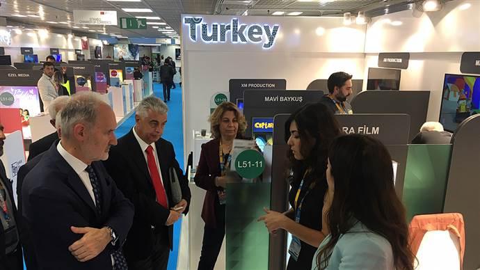 Türk dizi ve sinema sektörü 22 firmayla MIPCOM'da