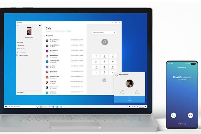 Android'e gelen aramalar Windows 10 ile cevaplanacak