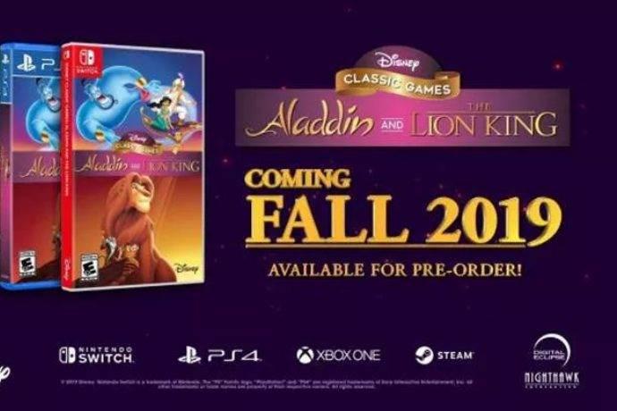 Klasik oyun sevenler için Aladdin ve The Lion King