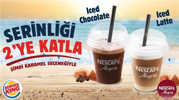 Burger King'in karamelli yeni soğuk kahveleri