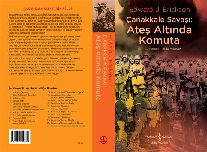 Çanakkale Savaşı'nın komuta kontrolü inceleyen kitap