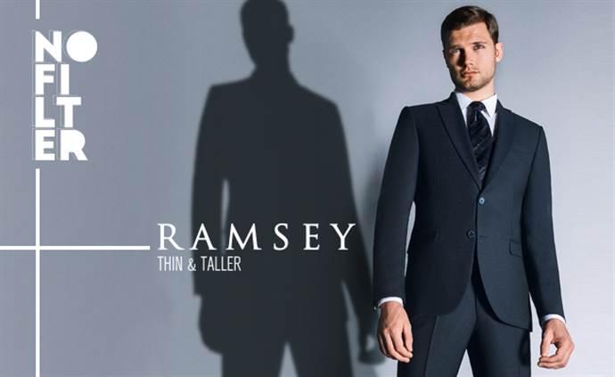 Ramsey'den erkekleri uzun ve fit 'gösteren' elbiseler