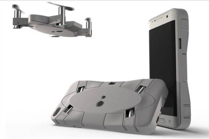 Akıllı telefon kılıfına sığan drone
