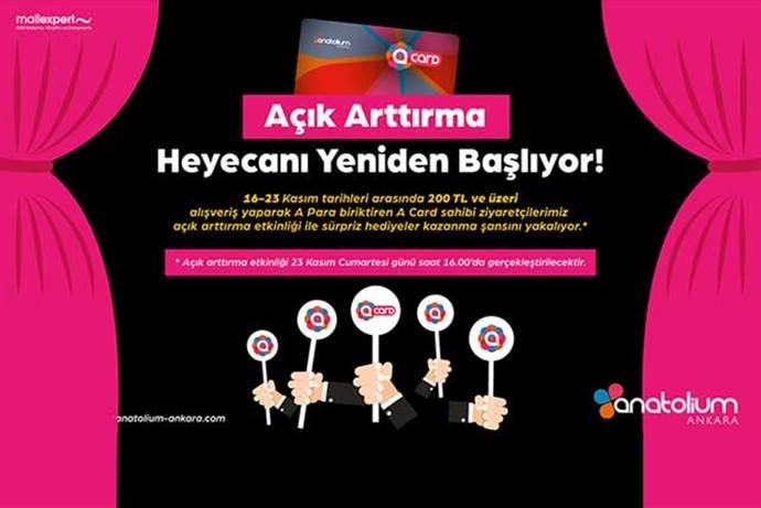Anatolium Ankara AVM  açık arttırma usulü hediye kampanyası