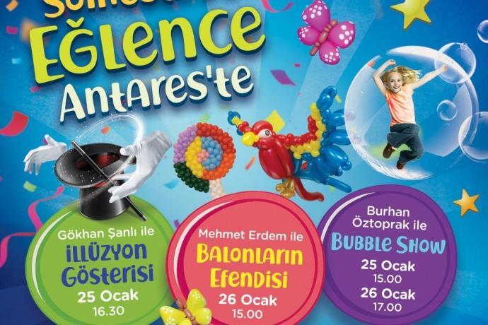 Antares'te 'İllüzyon Show' ve 'Balonların Efendisi' gösterisi