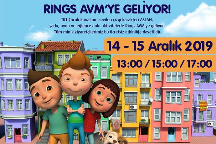 'Aslan' Rings AVM'ye geliyor