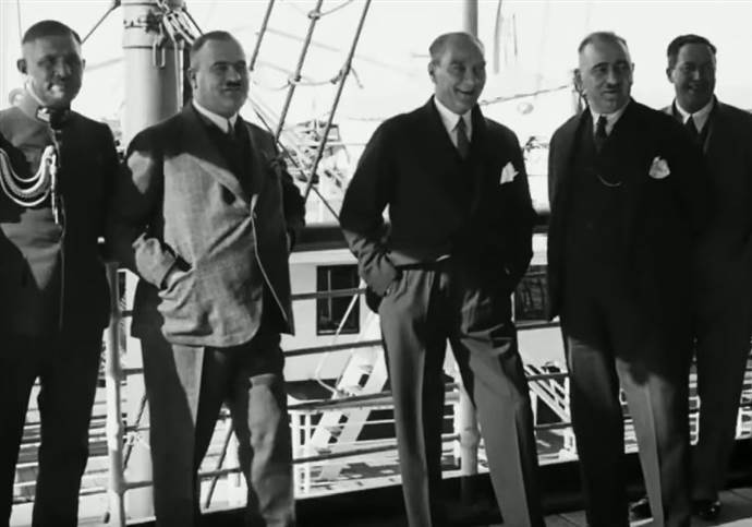 Atatürk'ün yayınlanmamış 43 saniyelik görüntüsü