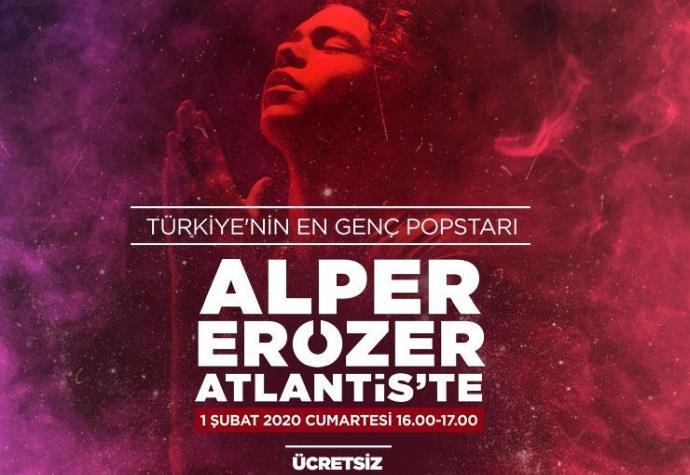 Atlantis AVM'de Alp Erözer konseri