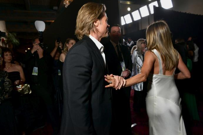 2020 SAG Ödülleri törenine Brad Pitt ve Jennifer Aniston damga vurdu!