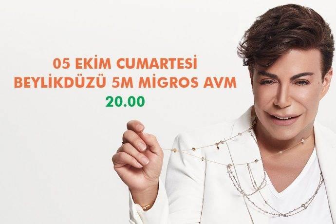 Fatih Ürek Beylikdüzü Migros AVM'de ücretsiz konser verecek