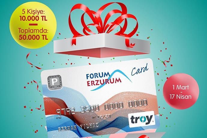 Forum Erzurum'da toplamda 50.000 değerinde ödül kazanma şansı