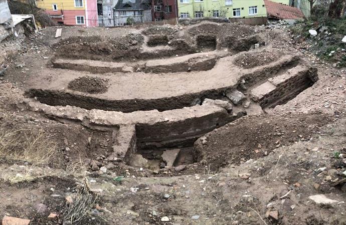İnşaat kazısı sırasında tarihi yapı ortaya çıktı