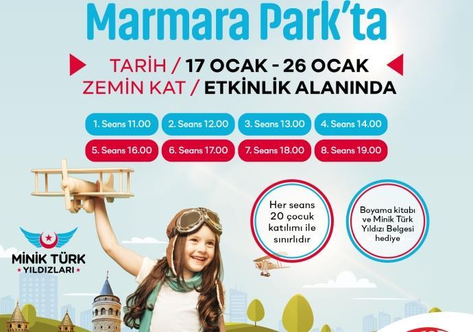 Marmara Park'ta 'Minik Türk Yıldızları' etkinliği
