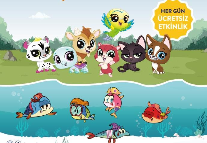 Minika'nın sevilen karakterleri Ege Perla Çocuk Kulübü'nde
