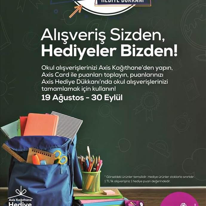 Axis Kağıthane AVM'de okul için Hediye Dükkanı