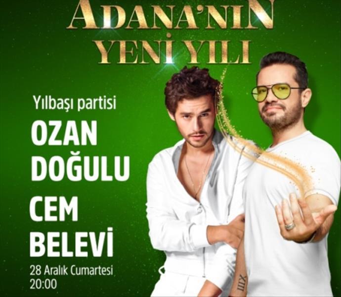 M1 Adana'da Cem Belevi ve Ozan Doğulu ile yeni yıl coşkusu