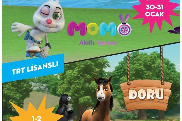 Akıllı Tavşan Momo ve Doru, Park Afyon AVM'de!