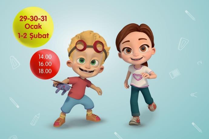 Pırıl karakteri Forum Erzurum'da çocuklarla buluşuyor