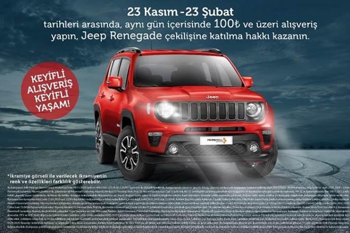 Primemall Gaziantep'ten ziyaretçilerine Jeep Renegade hediyesi