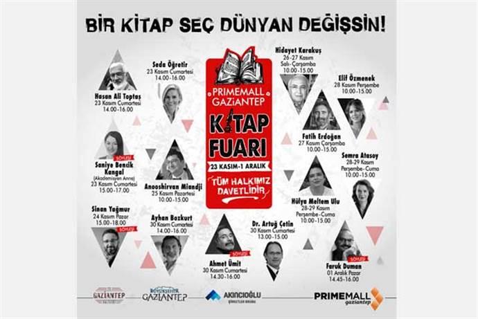 Primemall Gaziantep AVM'de kitap fuarı gerçekleşecek