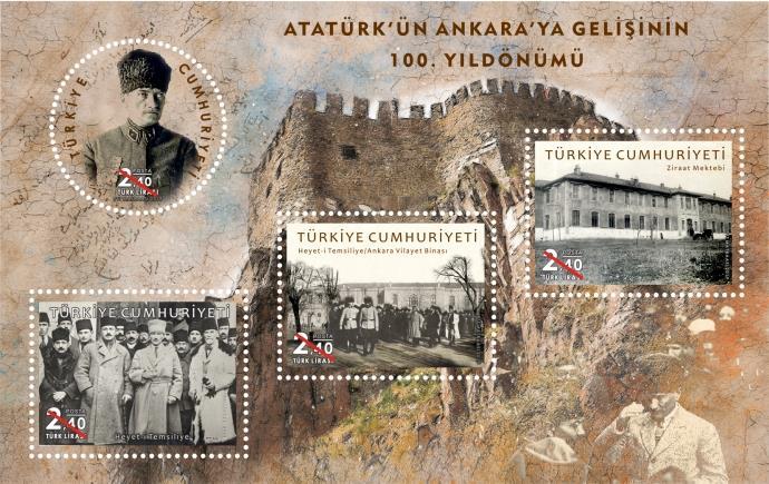 PTT, 'Atatürk'ün Ankara'ya Gelişi'nin 100. Yıl Dönümü' pulunu satışa sundu