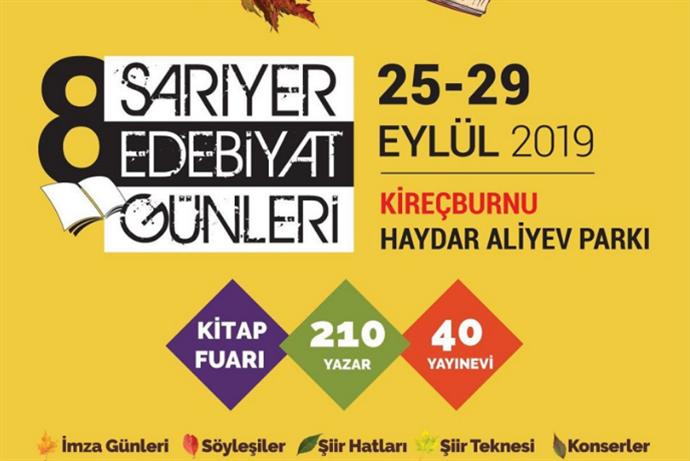 8. Sarıyer Edebiyat Günleri 25 Eylül'de başlıyor