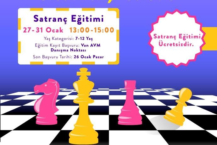 Van AVM'den çocuklara özel satranç eğitimi