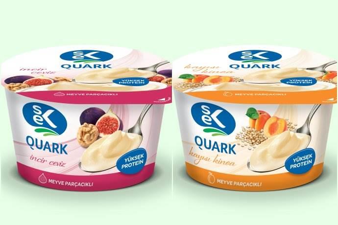 SEK Quark'tan iki yeni lezzet: Kayısı-Kinoa ve İncir-Ceviz