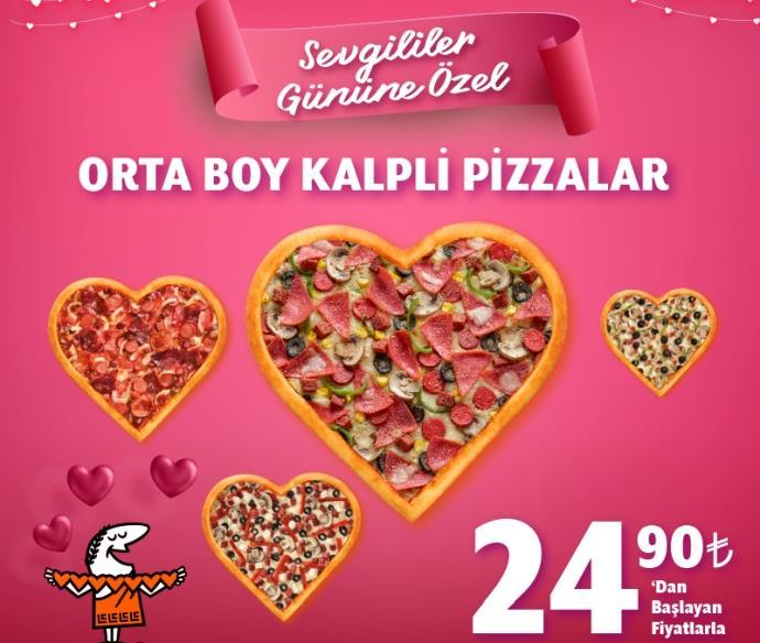 Little Caesars'tan 14 Şubat'a özel kalpli pizza fırsatı