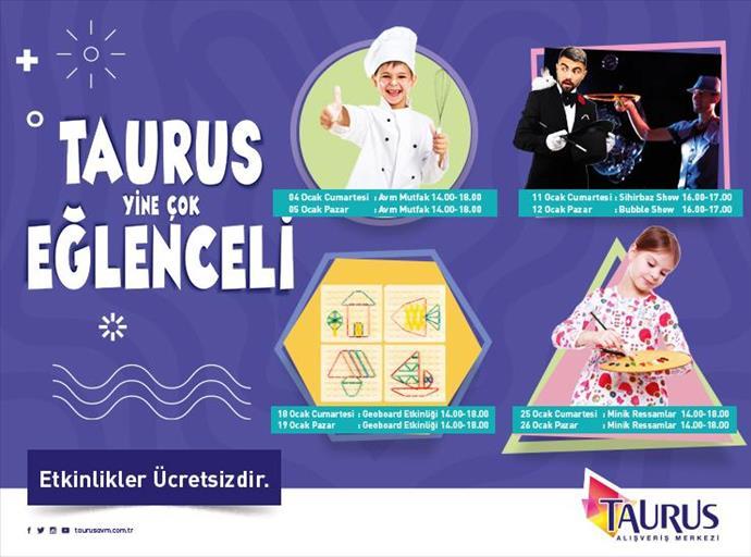 Taurus AVM'de Ocak ayında Çocuk Atölyesi etkinlikleri