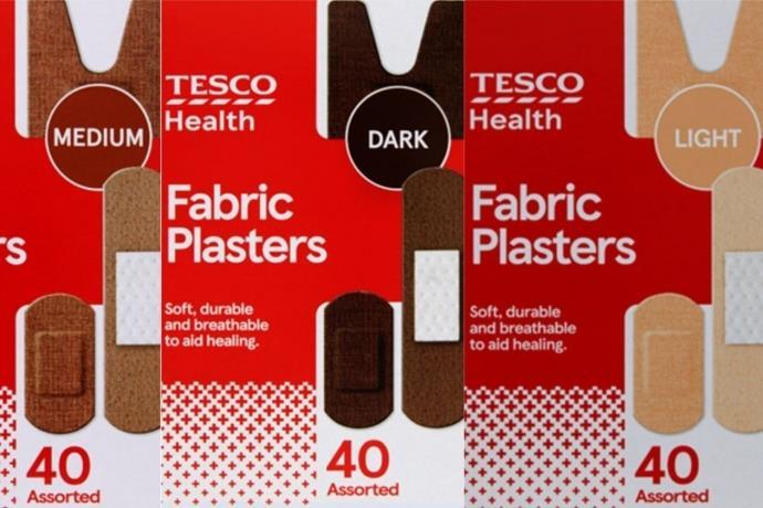 Tesco, ten renklerine uygun yara bantlarını satışa çıkardı