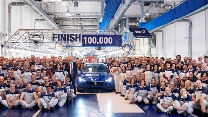 Maserati Ghibli markalı 100 bininci araç üretildi