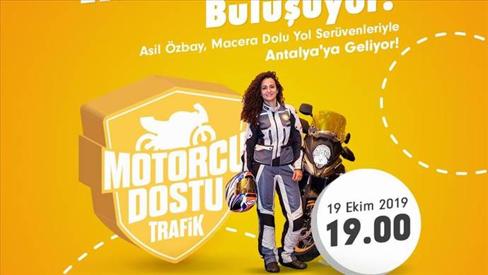 """""""Motorcu Dostu Trafik"""" projesi Antalya'da devam ediyor"""