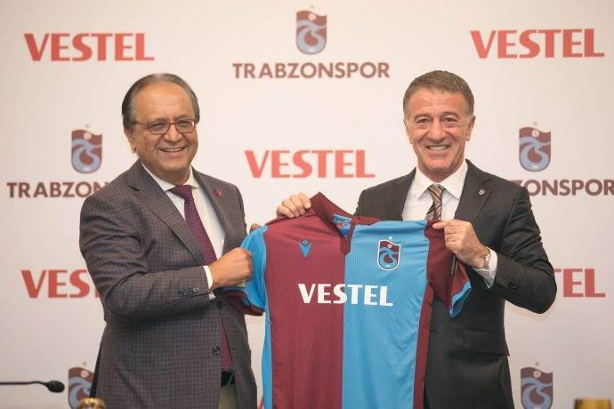 Vestel yeniden Trabzonspor'un forma ana sponsoru oldu